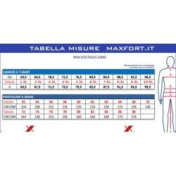 tabella misure maxfort taglie grandi